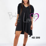 Short Dress assimetrico c/renda no decote